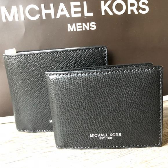 d93e62cb5347 Michael Kors Jet Set Billfold MENS wallet Black